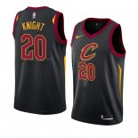Maglia Cleveland Cavaliers Brandon Knight NO 20 Statement 2018 Nero