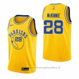Maglia Golden State Warriors Alfonzo Mckinnie NO 28 Hardwood Classic 2018-19 Giallo