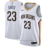 Maglia New Orleans Pelicans Anthony Davis NO 23 Association 2017-18 Bianco