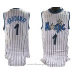 Maglia Orlando Magic Anfernee Hardaway NO 1 Throwback Bianco