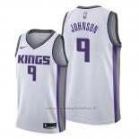 Maglia Sacramento Kings B.j. Johnson NO 9 Association Bianco