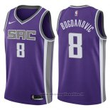 Maglia Sacramento Kings Bogdan Bogdanovic NO 8 Icon 2017-18 Viola