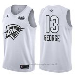 Maglia All Star 2018 Oklahoma City Thunder Paul George NO 13 Bianco