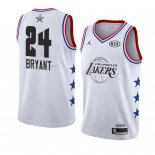 Maglia All Star 2019 Los Angeles Lakers Kobe Bryant NO 24 Bianco