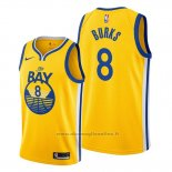 Maglia Golden State Warriors Alec Burks NO 8 Statement The Bay Or