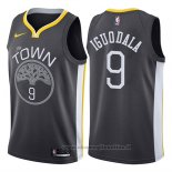 Maglia Golden State Warriors Andre Iguodala NO 9 Statement 2017-18 Nero