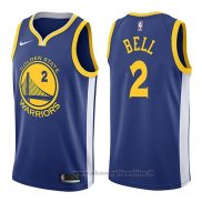 Maglia Golden State Warriors Jordan Bell NO 2 Icon 2017-18 Blu