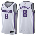 Maglia Sacramento Kings Bogdan Bogdanovic NO 8 Association 2017-18 Bianco