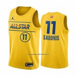 Maglia All Star 2021 Indiana Pacers Domantas Sabonis #11 Or