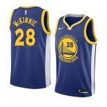 Maglia Golden State Warriors Alfonzo Mckinnie NO 28 Icon 2018 Blu
