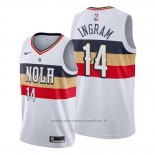 Maglia New Orleans Pelicans Brandon Ingram NO 14 Earned Bianco