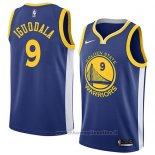 Maglia Golden State Warriors Andre Iguodala NO 9 Icon 2018 Blu