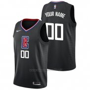 Maglia Los Angeles Clippers Personalizad Statement 2019 Neroa