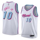 Maglia Miami Heat Derrick Jones Jr. NO 10 Statement 2018 Rosso