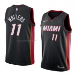 Maglia Miami Heat Dion Waiters NO 11 Icon 2018 Nero