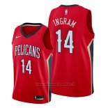 Maglia New Orleans Pelicans Brandon Ingram NO 14 Statement Rosso