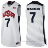 Maglia USA 2012 Russell Westbrook NO 7 Bianco
