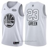 Maglia All Star 2018 Golden State Warriors Draymond Green NO 23 Bianco