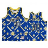 Maglia Golden State Warriors Stephen Curry #30 Hardwood Classics Tear Up Pack Blu