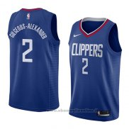 Maglia Los Angeles Clippers Shai Gilgeous-Alexander NO 2 Icon 2018 Blu