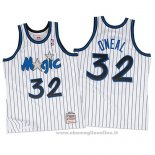 Maglia Orlando Magic Shaquille O'Neal NO 32 Throwback Bianco