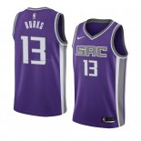 Maglia Sacramento Kings Alec Burks NO 13 Icon 2018 Viola