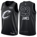 Maglia All Star 2018 Cleveland Cavaliers Lebron James NO 23 Nero