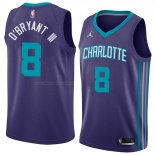 Maglia Charlotte Hornets Johnny O'bryant III NO 8 Statement 2018 Violet