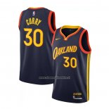 Maglia Golden State Warriors Stephen Curry #30 Citta 2020-21 Bianco