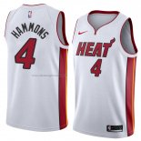 Maglia Miami Heat Aj Hammons NO 4 Association 2018 Bianco