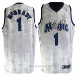 Maglia Orlando Magic Tracy McGrady NO 1 Throwback Bianco2
