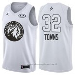 Maglia All Star 2018 Minnesota Timberwolves Karl-anthony Towns NO 32 Bianco