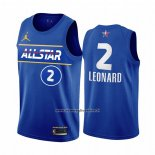 Maglia All Star 2021 Los Angeles Clippers Kawhi Leonard #2 Blu