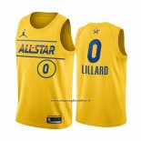 Maglia All Star 2021 Portland Trail Blazers Damian Lillard #0 Or