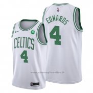 Maglia Boston Celtics Carsen Edwards NO 4 Association 2019-20 Bianco