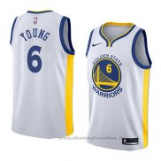 Maglia Golden State Warriors Nick Young NO 6 Association 2018 Bianco