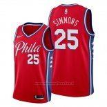 Maglia Philadelphia 76ers Ben Simmons NO 25 Statement Edition Rosso