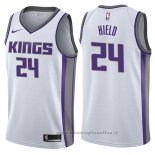 Maglia Sacramento Kings Buddy Hield NO 24 Association 2017-18 Bianco