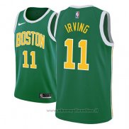 Maglia Boston Celtics Kyrie Irving NO 11 Earned 2018-19 Verde