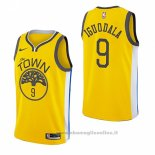 Maglia Golden State Warriors Andre Iguodala NO 9 Earned 2018-19 Giallo