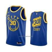 Maglia Golden State Warriors Stephen Curry #30 Hardwood Classics 2020-21 Blu