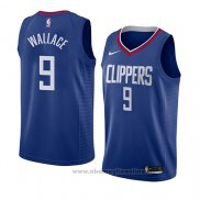 Maglia Los Angeles Clippers Tyrone Wallace NO 9 Icon 2018 Blu