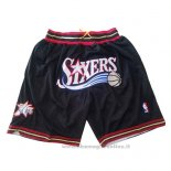 Pantaloncini Philadelphia 76ers Just Don Nero