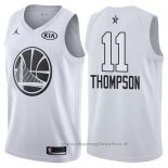Maglia All Star 2018 Golden State Warriors Klay Thompson NO 11 Bianco