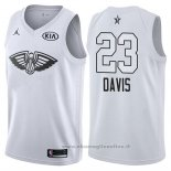 Maglia All Star 2018 New Orleans Pelicans Anthony Davis NO 23 Bianco