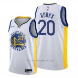 Maglia Golden State Warriors Alec Burks NO 20 Association 2019-20 Bianco