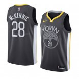 Maglia Golden State Warriors Alfonzo Mckinnie NO 28 Statement 2018 Nero