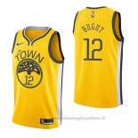 Maglia Golden State Warriors Andrew Bogut NO 12 Earned 2018-19 Giallo