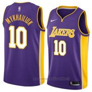 Maglia Los Angeles Lakers Sviatoslav Mykhailiuk NO 10 Statement 2018 Viola