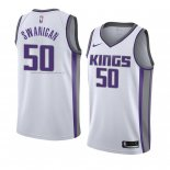 Maglia Sacramento Kings Caleb Swanigan NO 50 Association 2018 Bianco
